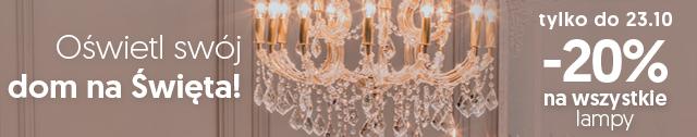 Oświetl swój dom na święta! -20% na wszystkie lampy! Tylko do 23.10
