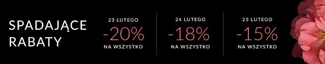 Spadające rabaty! -20% | -18% | -15%