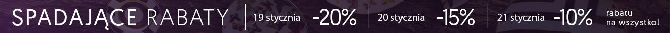 Spadające rabaty! 20% 15% 10%. Nie przegap!