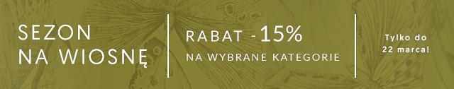 Rabat 15% na wybrane kategorie