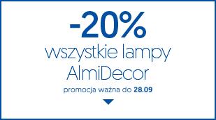 -20% Wszystkie lampy AlmiDecor. Tylko do 28.09