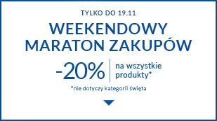 Weekendowy maraton zakupów! -20% na wszystkie kategorie!