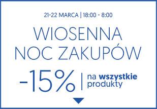 Wiosenna noc zakupów   -15% na wszystkie produkty