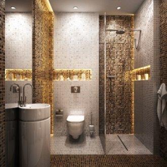 Łazienka ze złotymi dodatkami - najlepsze aranżacje